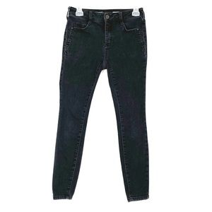 2/$25 Anthro Pilcro High Rise Denim Leggings Black